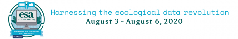 Ecological Society of America Virtual Meeting banner